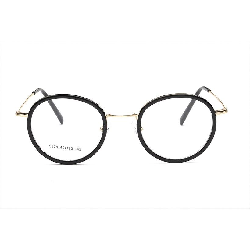 f0f9d9592a TR90 Retro Round Optical Glasses Frame Vintage Retro Plastic Titanium  Eyeglasses Plain Mirror Women Eyeglass Frame-in Eyewear Frames from Apparel  ...