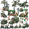Military Educational Building Blocks Toys Army Cars Planes Helicopter Weapon Compatible With Legoed Toys For Children