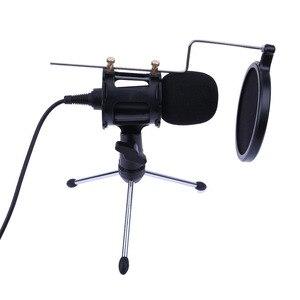 Image 1 - Профессиональный портативный Настольный конденсаторный Держатель для микрофона Штатив для iPhone Macbook компьютера ПК микрофоны