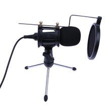 Professional Portable Desktop Condenser Microphone Stand Holder Tripod Set for iPhone Macbook Computer PC Microphones