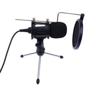 Image 1 - Professional Portable Desktop Condenser Microphone Stand Holder Tripod Set for iPhone Macbook Computer PC Microphones