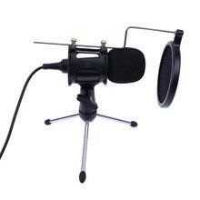 Professional Portable Desktop CondenserไมโครโฟนStand Holderขาตั้งกล้องสำหรับiPhone Macbookคอมพิวเตอร์PCไมโครโฟน