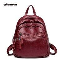 School Bags Vintage Backpacks for Girls Teenagers Korean Backpack Women 2018 Bags Genuine Leather Backpack Women Shoulder Bag