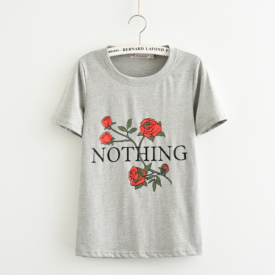 HTB13odNRpXXXXamaXXXq6xXFXXXF - Nothing Rose Women T Shirt