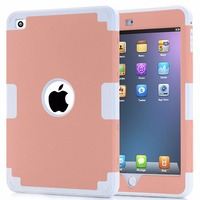For iPad Mini 4 Case Retina Kids Safe Armor Shockproof Heavy Duty Silicone Hard Case Cover w/Screen Protector Film+Stylus Pen