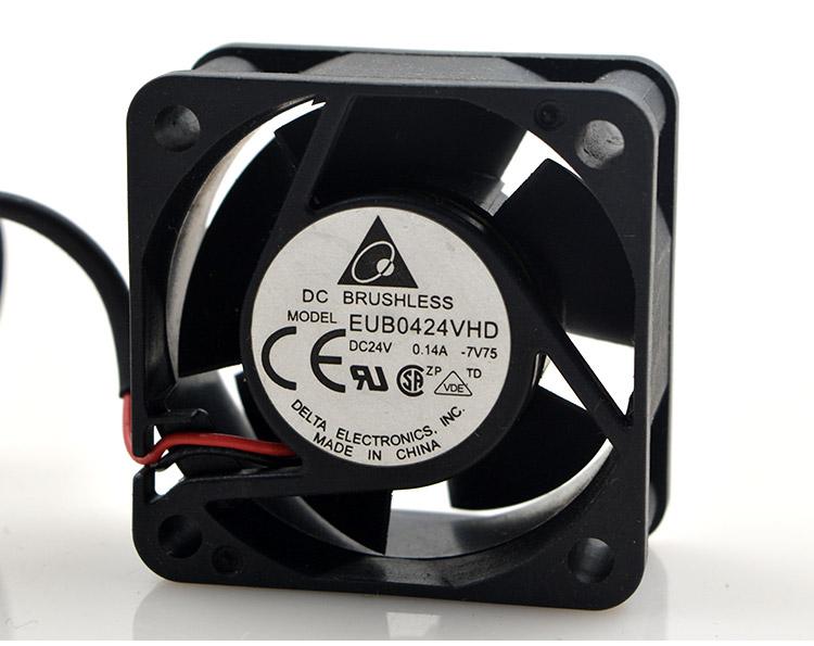 New Original EUB0424VHD 24V 0.14A 4CM 4020 2-wire Inverter Printer Fan