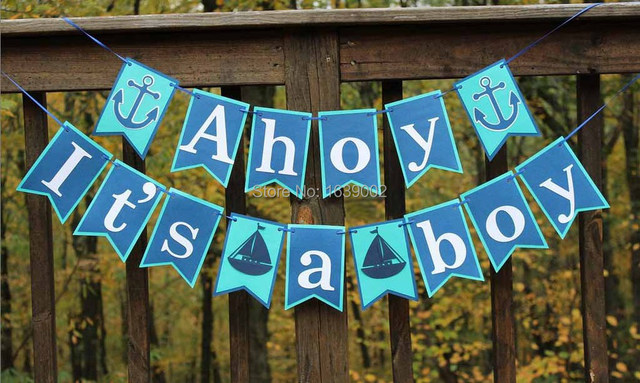 Just Listed Its A Boy Banner Signs Ocean Theme Baby Shower Party