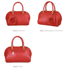Women Flowers High Quality Leather Handbags (5 colors)