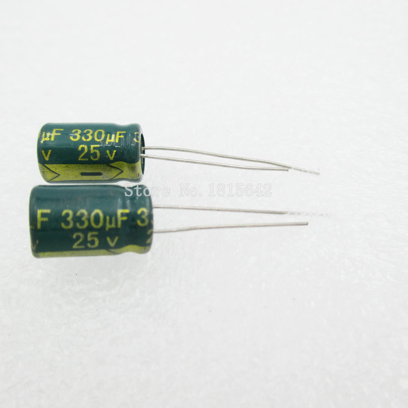 20PCS/LOT 330uF 25V Aluminum Electrolytic Capacitor 8*12 Electrolytic Capacitor 25v 330uf