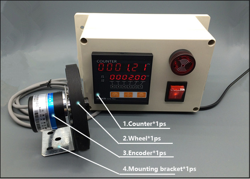 Rotary Encoder 300ppr Digital Electronic Meter Counter Wheel Roll Length Measuring Meter Testing Equipment can add and subtract electronic digital display counter meter meter set