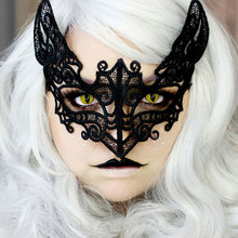 1pcs Black Women Lace Mask Party Cosplay Masquerade Dance Bar Sexy Carnival Halloween Black Cat Type Half Face Mask 1pcs black women lace mask party cosplay masquerade dance bar sexy carnival halloween black cat type half face mask