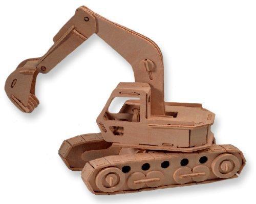 Экскаватор 3D деревянные головоломки детский DIY дерево ремесло строительство игрушка горячая распродажа