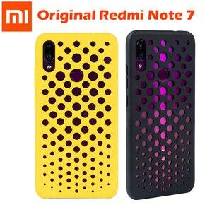 Image 1 - Original xiaomi redmi note 7 case cover note7 matte hard pc protective breathable backhole case coque redmi note 7 pro cover