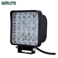 1 Piece LED Car Lights Square Shape 75W Cool White LED Work Lights 12-24V Waterproof 25 LEDS Offboard Boat Car Lights