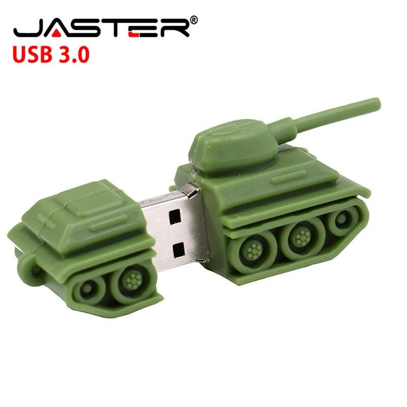 JASTER  The New Tank USB Flash Drive USB 3.0 Pen Drive Minions Memory Stick Pendrive 4GB 8GB 16GB 32GB  64GB Gift