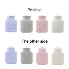 Cute Hot Water Bottle Explosion Proof Silicone Water-filling Hot-water Bag Mini Warm Uterus Portable Hand Warmers