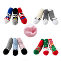 New Winter Warm Lovely Chrismas Gift Terry Socks 2016 Children Socks Cotton Cartoon Kids Boys Girls Socks 3 Pairs Pack