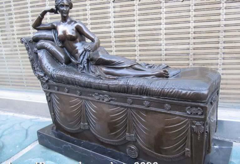CANOVA NUDE NAPOLEON'S SISTER BRONZE SCULPTURE STATUE|statue nude|statue sculpture|statue bronze - title=