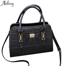 52f7fbe09e Aelicy PU LEATHER Crossbody Bag 2019 Novo Design de Moda Mulheres Bowknot  Falso Designer Bolsas de Couro Sólida Saco de Viagem F..