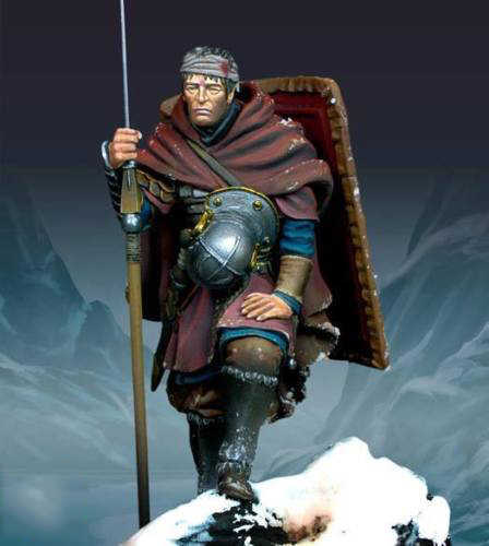 Unpainted Kit 1/24  75mm Roman Legionary in    soldier 75mm  Resin Figure miniature garage kit