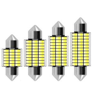 31 мм 36 мм 39 мм 42 мм Festoon C5W C10W Светодиодные лампы 18 27 30 33 Smd 4014 Canbus без ошибок авто Интерьер Doom лампа автомобильный светильник для чтения