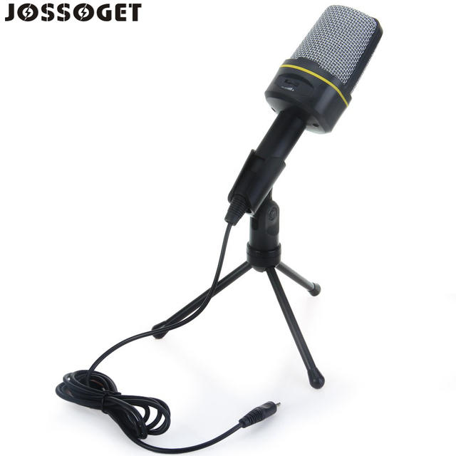 US $16 9 |Condenser Sound Microphone with Stand for PC Laptop Skype  Recording Compatibility: Windows 98 Windows 2000 Windows XP-in Microphones  from