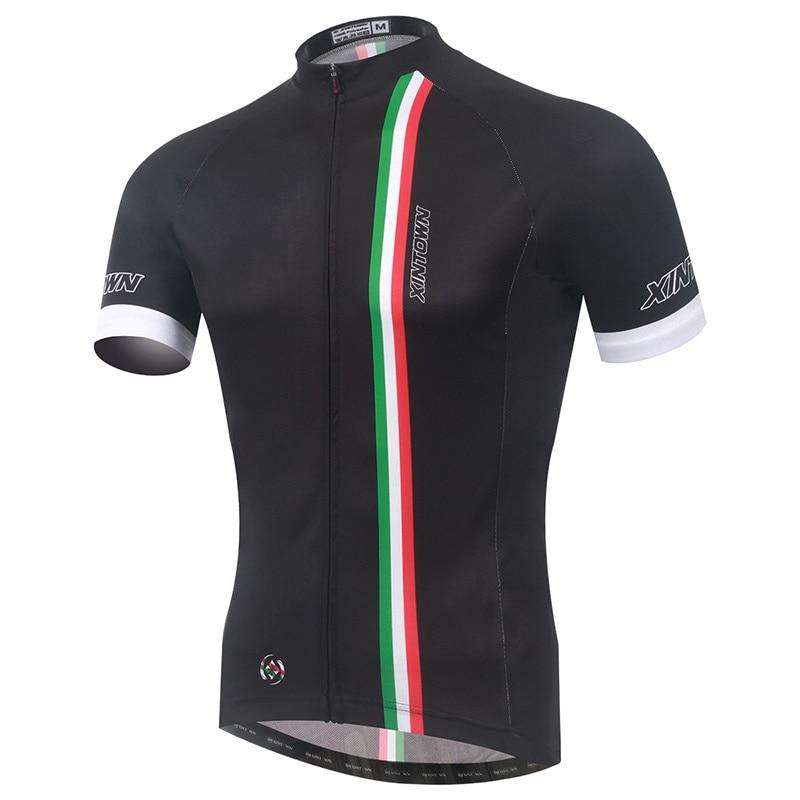 2020 männer Radfahren Trikots Atmungs Racing MTB Bike Jersey Schwarz Fahrrad Jersey Ropa Ciclismo Quick Dry Radfahren Shirt-in Rad-Trikots aus Sport und Unterhaltung bei title=