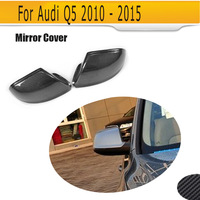 Replace carbon fiber side rear back view mirror covers Caps Shell for Audi Q5 SQ5 S line SUV 4 Door 09 17