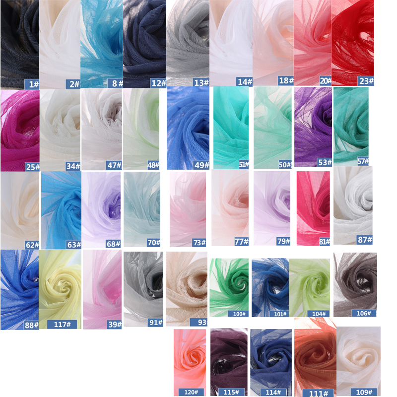 Image 4 - New Arrival 10meters/lot Soft Tulle Netting Fabric Mosquito Net Gauze Fabric Handmade Material For Pomp Skirt Curtain D407fabric mosquito nettingtulle netting fabricgauze fabric -