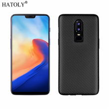 HATOLY Cover Oneplus 6 Case Oneplus 6 Soft Rubber Silicon Armor Protective Phone Shell Bumper Phone Case for Oneplus 6 A6000 1+6