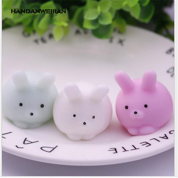 1 Pcs squishy Bunny Toys Rubber Cute Cartoon anti-stress funny stress reliever Simulation Charm Slow Rebounding toys for kid banana style pp rubber stress reliever keychain yellow