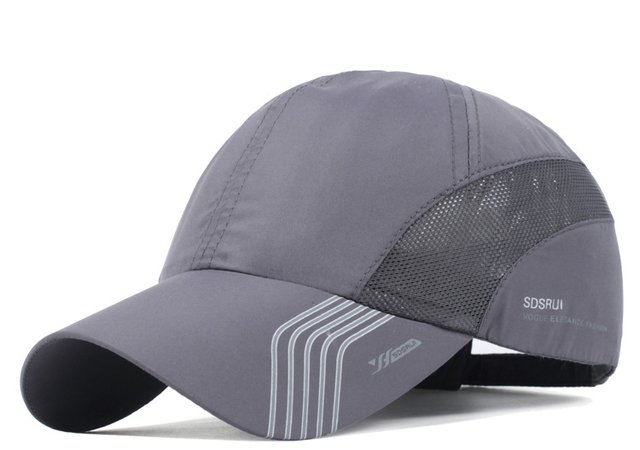 Summer Breathable Sport Hats for Men Mesh Baseball Cap Adjustable Hat Men Bone Snapback Hats Quick Drying Male Outdoor Cap Black 1