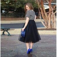 Casual Black Smooth Tulle Skirt Simple Leg length Midi Skirt Modern Fashion Skirts Women high quality custom