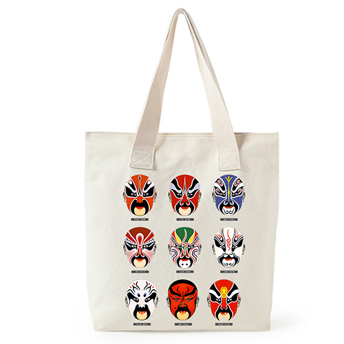 Original Shopping Bag Cotton Canvas Bag Chinese National Quintessence Beijing Opera Custom Tote Bag Customize ECO Logo Bags in Shopping Bags from Luggage Bags