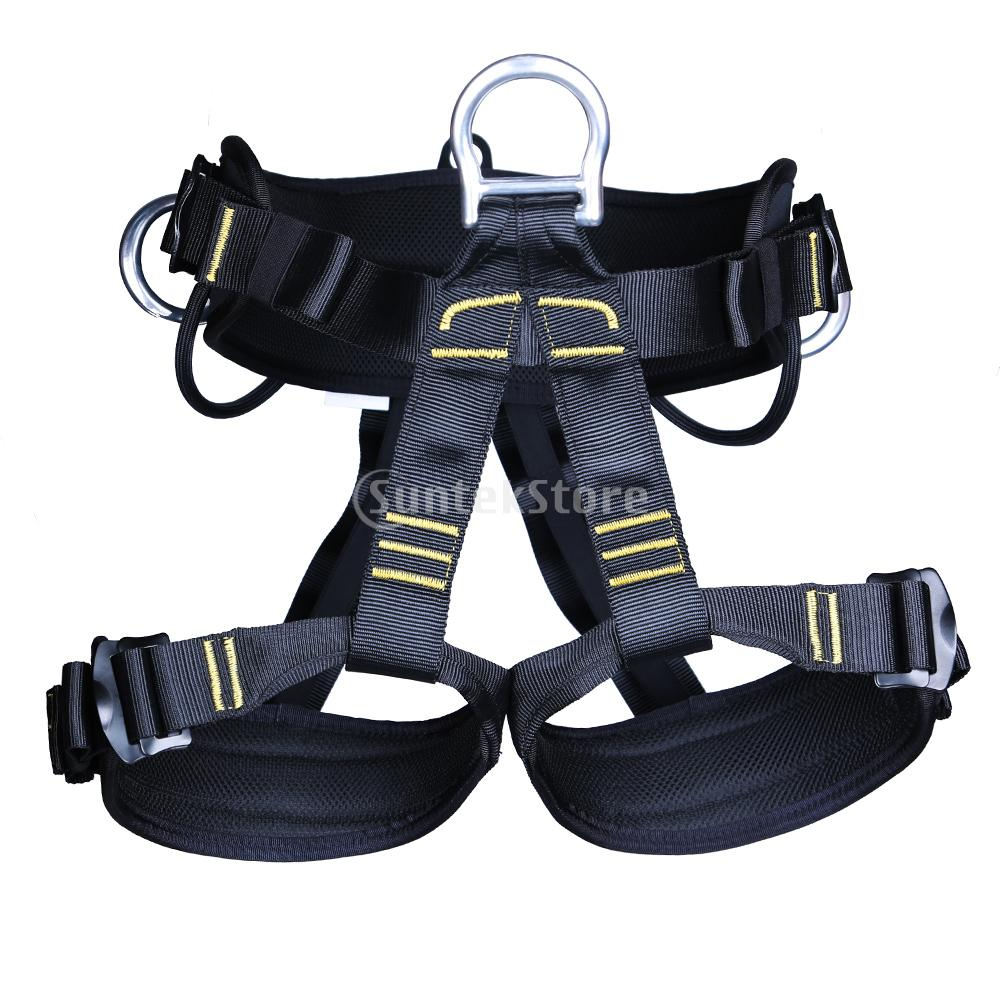 Professional Rock Climbing Harness Safety Seat Sit Bust Belt Mountaineering Rappel Rescue Fall Protection Equipment & Gear Loops professional rock climbing harnesses full body safety belt anti fall removable gear altitude protection equipment