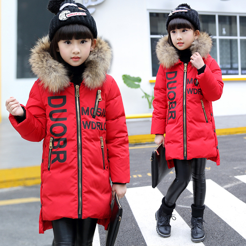 Childrens long  Jackets  new Korean girls thicker coats  childrens hooded cotton-padded jacket 6-11 year Childrens long  Jackets  new Korean girls thicker coats  childrens hooded cotton-padded jacket 6-11 year