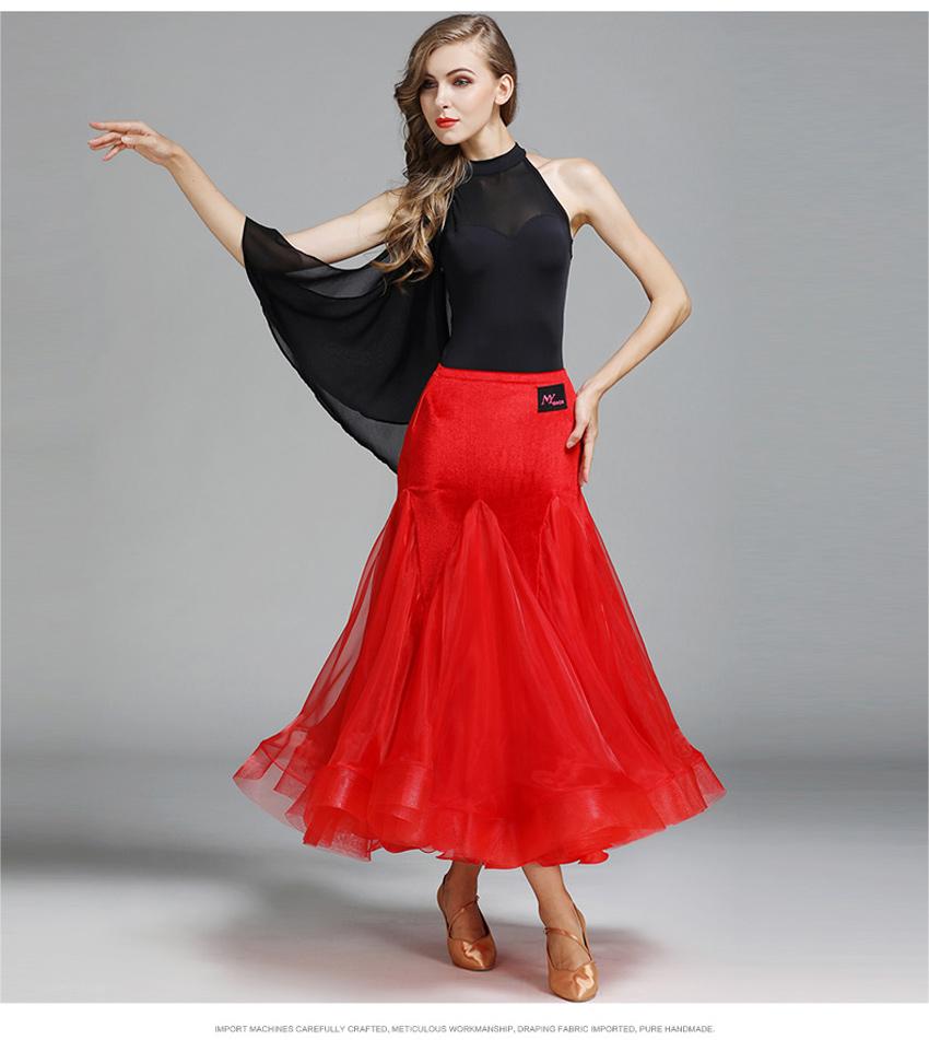 элегантный современный вальс конкурс танца юбка купальник & елочка юбка для для женщин костюмы для бальных танцев вальс танго стандартный костюмы