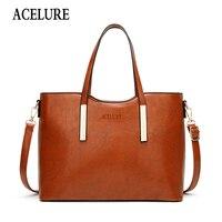 ACELURE винтажная женская сумка на плечо из искусственной кожи женские сумки-мессенджеры сумки-тоут дизайнерские Элегантные женские сумки чер...