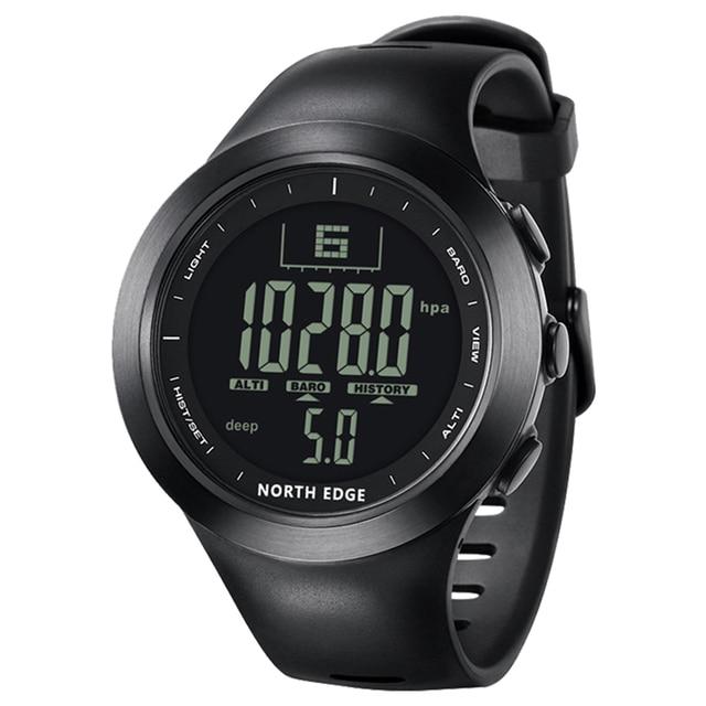 Цифровые водонепроницаемые часы 100 м Северная режущая кромка рыболовные температурные часы мужские роскошные воздушные давления Смарт спортивные часы для мужчин секундомер
