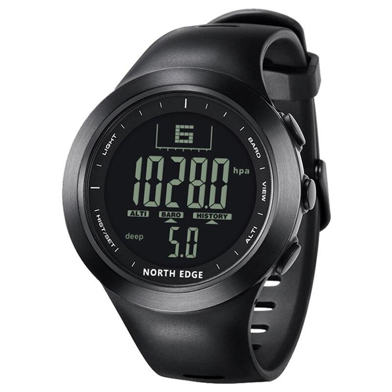 Montre numérique étanche 100 M North Edge pêche température montre hommes luxe Air pression intelligente Sport montres pour hommes chronomètre