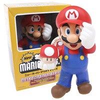 Süper Mario Bros. kırmızı Şapka Mario Mantar PVC Kutulu ile Colletible Rakamlar Model Oyuncak Doğum Günü Hediyesi