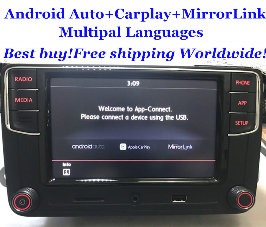 android auto mib car radio rcd330 plus rcd330g carplay app for vw tiguan golf 5 6 jetta mk5 mk6. Black Bedroom Furniture Sets. Home Design Ideas