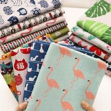Печатная хлопчатобумажная льняная ткань, скатерть для штор, хлопковая ткань для рукоделия, стеганая и швейная салфетка, материал сумки 25x35 см