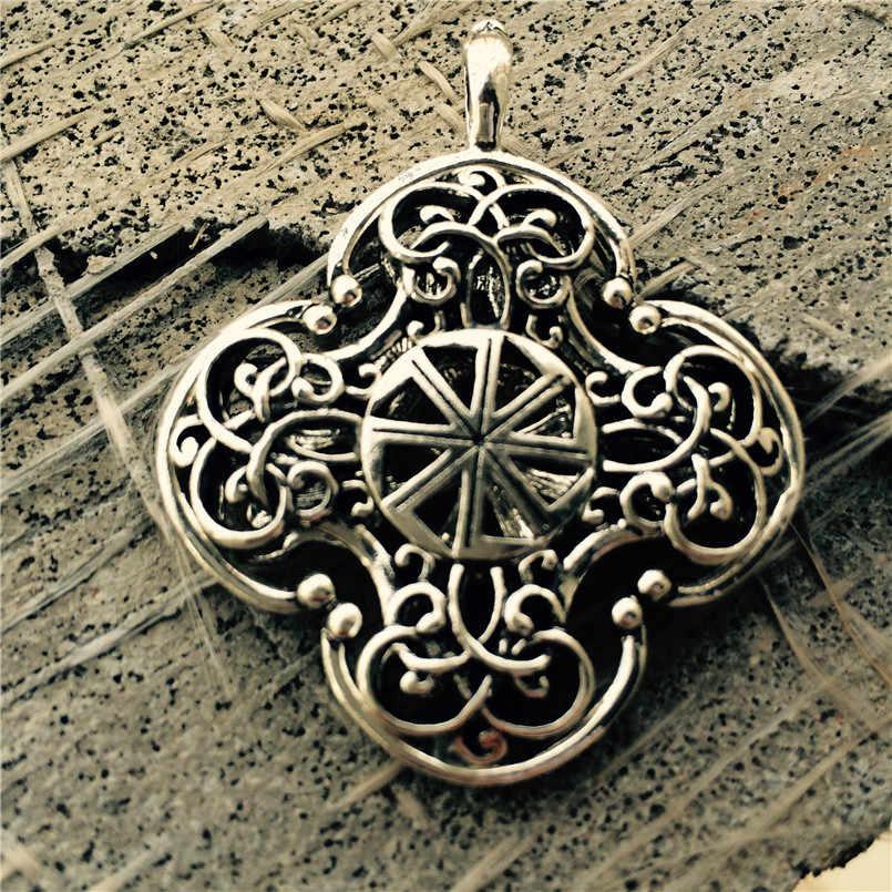 Заводской цене оптом подвеска Коловрат античный серебряный славянский Коловрат языческий Подвески Цепочки и ожерелья ожерелье с амулетом 1 шт.