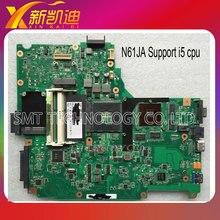 Для ASUS N61JQ Ноутбук Материнская Плата N61JA система Mainboard (I5) и Испытано порядке Бесплатная доставка