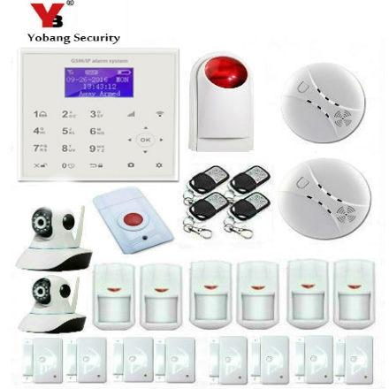 YobangSecurity Home Security Alarm System Wireless Wifi GSM APP Control Intelligent WiFi Burglar Alarm House Business IP Camera монитор aoc 21 5 i2281fwh i2281fwh