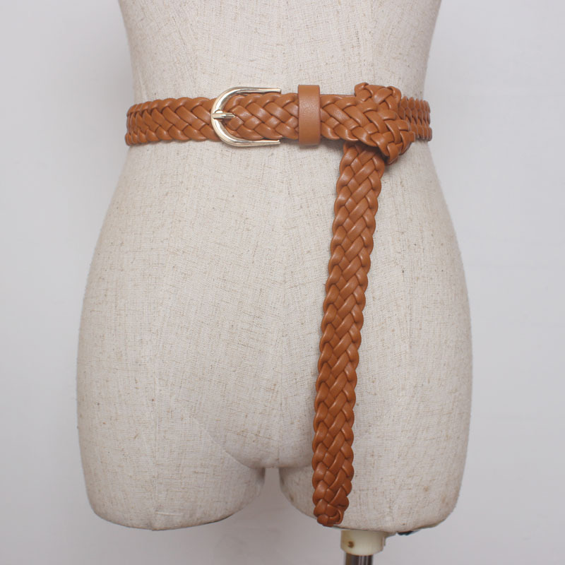 New Fashion Womens Belt Brief Knitted Candy Colors Hamp Rope Braid Female For Dress High Quality Ceinture Femme MY01