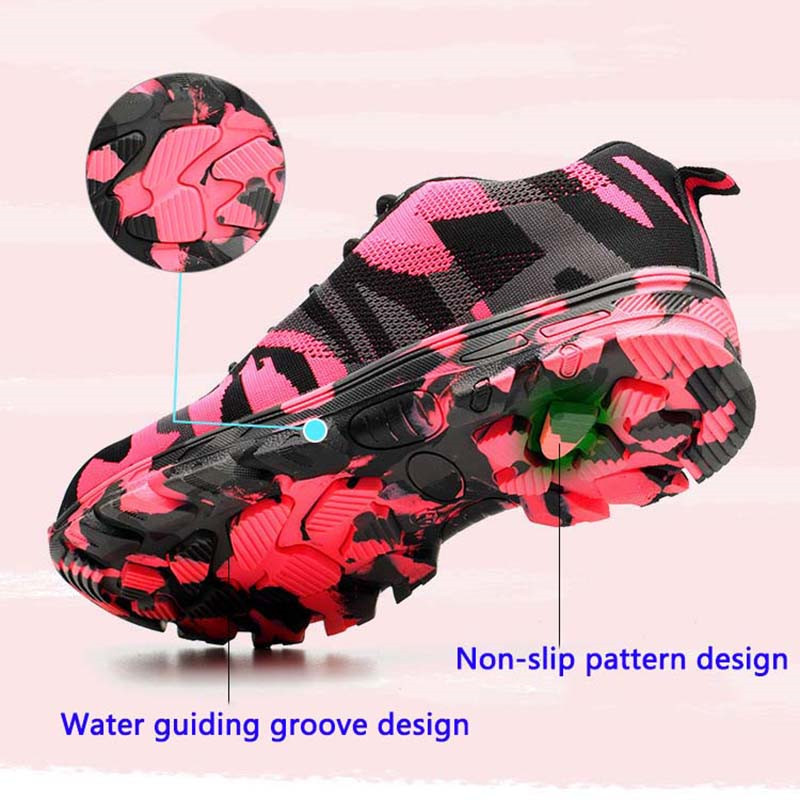 New Steel toe work ladies work shoes mesh ladies light breathable anti slip anti slip protective safety shoes YD418 in Fitness Cross training Shoes from Sports Entertainment