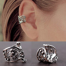 2 Pieces European and American Trade Fashion Simple Personality Pierced Vintage Ear Cuffs Clip Earrings Jewelry Women