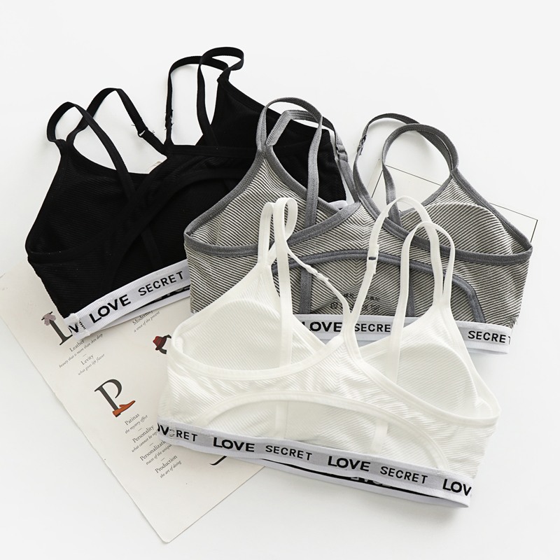 Women Fashion Crop Top Cropped Strappy Padded Bra Tank Top Vest Fitness Stretch Womens genie Workout Bras